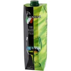 Piacere Vino Bianco 1 Liter Tetra Pak