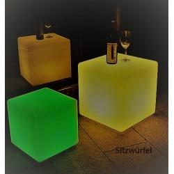 LED Würfel - Sitzwürfel - Würfel - beleuchtet